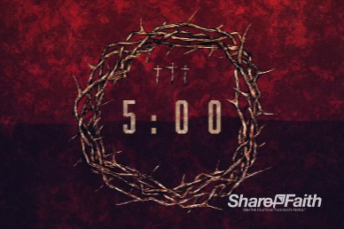 Good Friday Cross and Crown Countdown Video