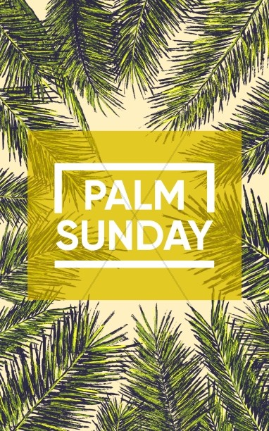 Palm Sunday Church Bulletin