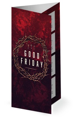 Good Friday Cross and Crown Church Trifold Bulletin