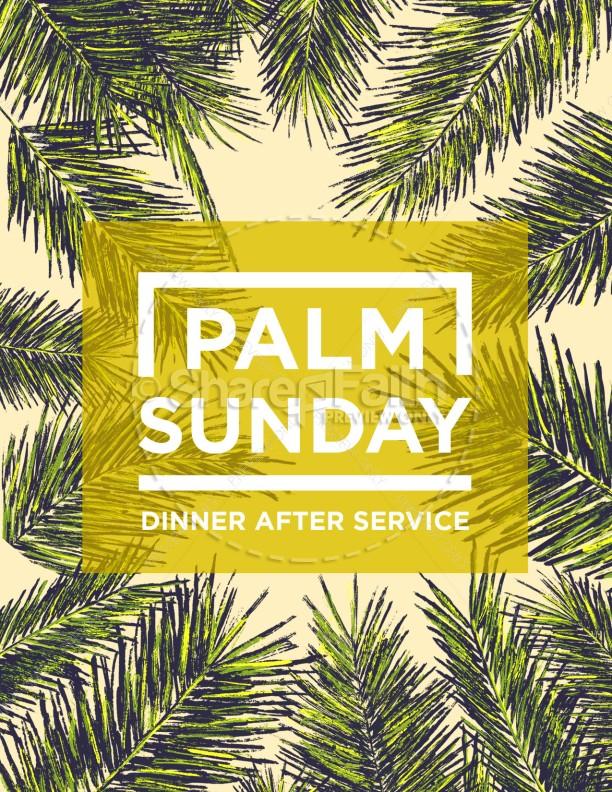 Palm Sunday Palm Branches Flyer