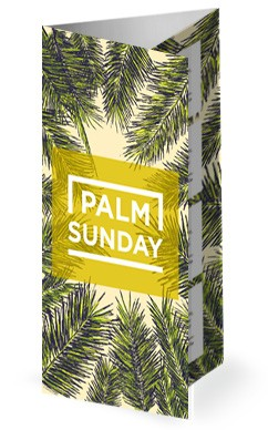 Palm Sunday Church Trifold Bulletin