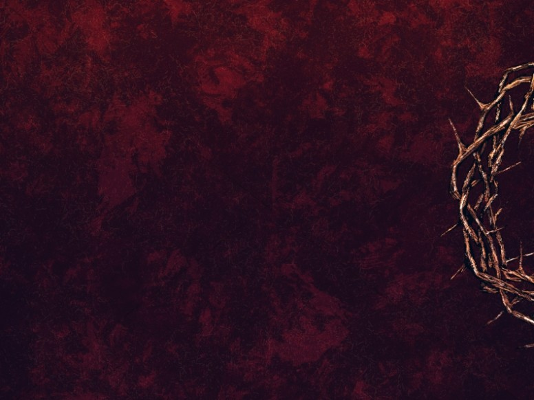 Good Friday Crown Of Thorns Worship Background