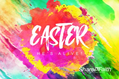 Easter Paint Splash Church Motion Graphic