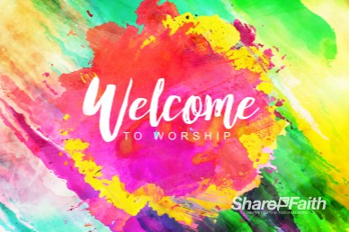 Easter Paint Splash Welcome Motion Graphic