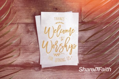 Palm Sunday Hosanna Welcome Motion Graphic
