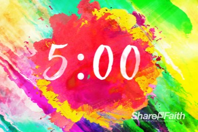 Easter Paint Splash Countdown Video