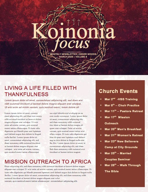 Good Friday Cross and Crown Church Newsletter