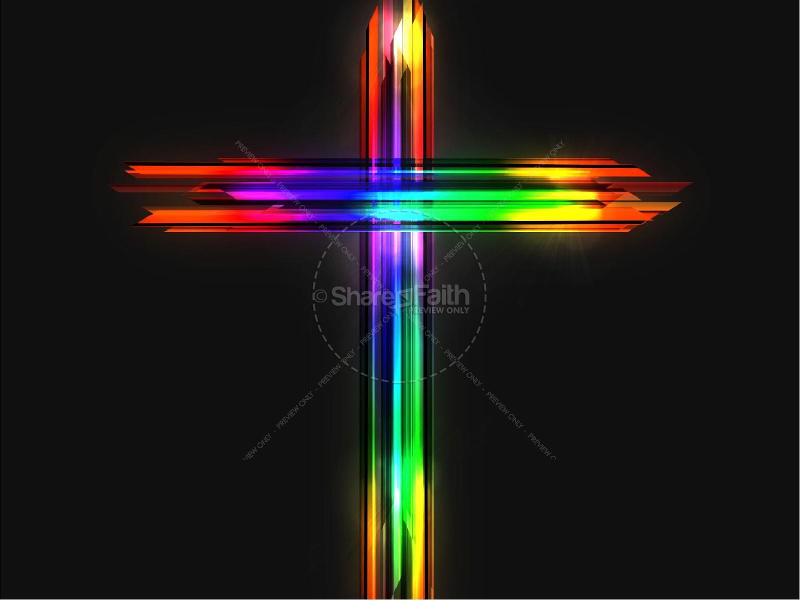 Easter Cross He Is Risen Sermon Powerpoint Easter Sunday