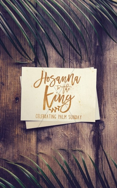 Palm Sunday Hosanna Bulletin Cover