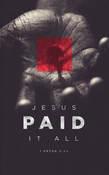 Jesus Paid It All Easter Bulletin Cover