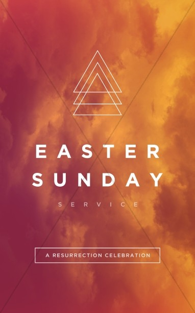 Easter Sunday Service Church Bulletin