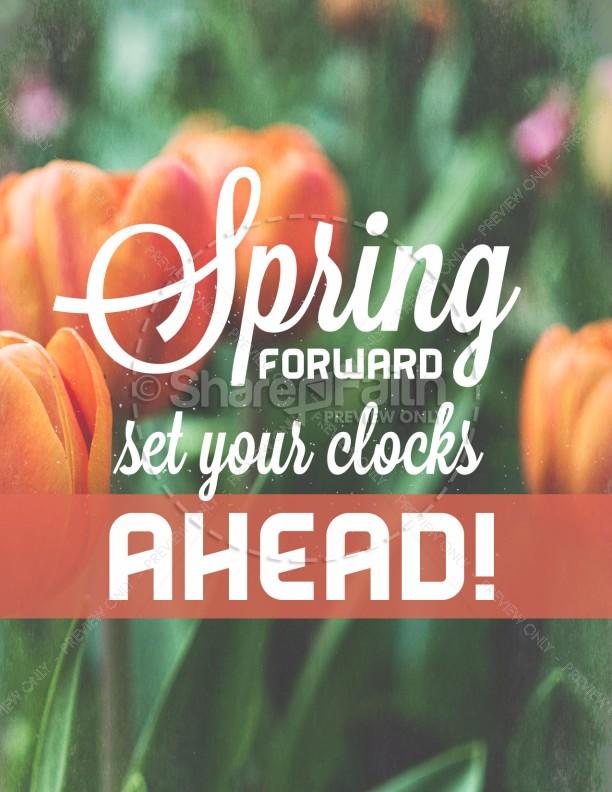 Spring Forward Tulip Church Flyer