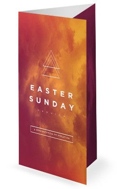 Easter Sunday Service Trifold Bulletin