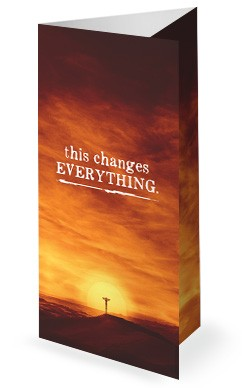 This Changes Everything Sermon Series Trifold Bulletin