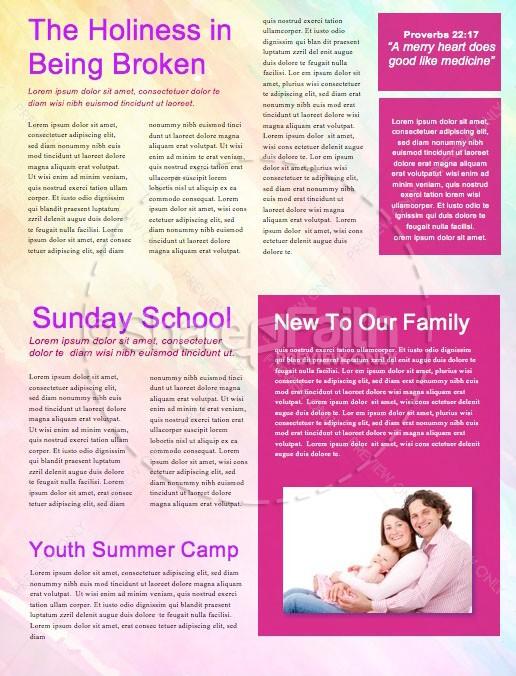 Easter Paint Splash Church Newsletter