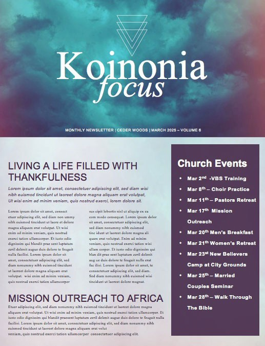 Good Friday Service Newsletter Template