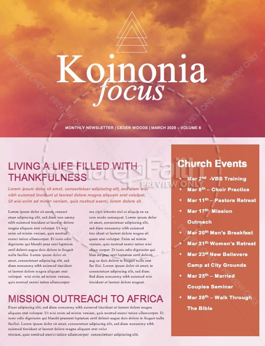 Easter Sunday Service Church Newsletter | page 1