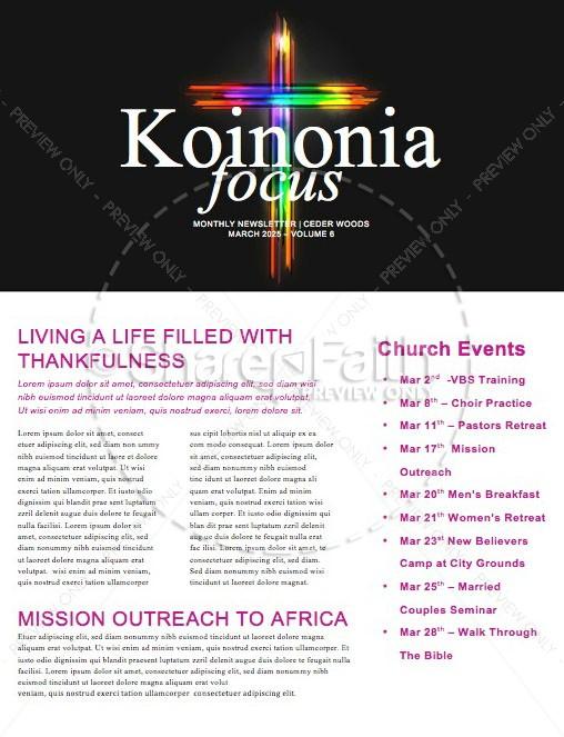 Easter Cross He Is Risen Newsletter