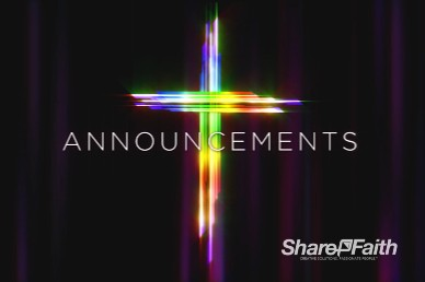Easter Cross He Is Risen Announcements Motion Graphic