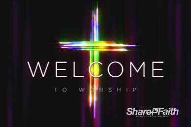Easter Cross He Is Risen Welcome Motion Graphic