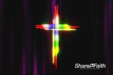 Dazzling Easter Cross Worship Motion Loop