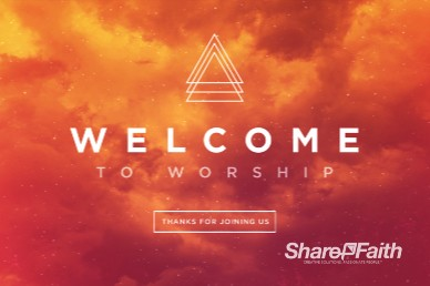 Easter Sunday Service Welcome Motion Graphic
