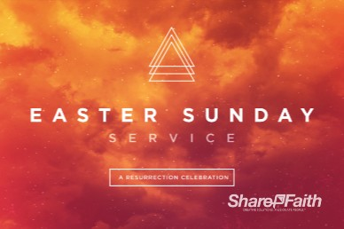 Easter Sunday Service Church Motion Graphic