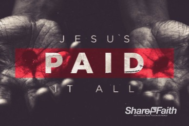 Jesus Paid It All Easter Church Motion Graphic