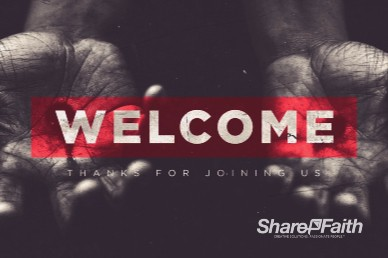 Jesus Paid It All Easter Welcome Motion Graphic
