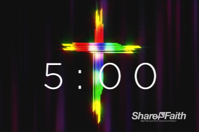 Easter Cross He Is Risen Church Countdown Timer