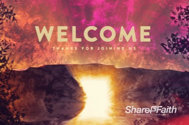 Empty Tomb Of Jesus Welcome Easter Motion Graphic