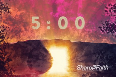 Empty Tomb Of Jesus Church Countdown Timer