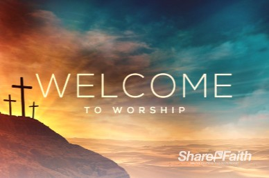 The Cross of Christ Welcome Church Motion Graphic