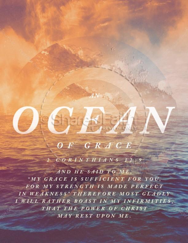 Ocean Of Grace Church Flyer Template