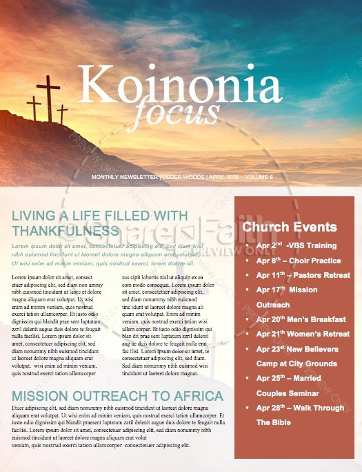 The Cross of Christ Church Newsletter