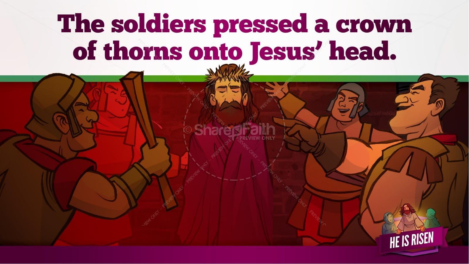 Matthew 28 He Is Risen Easter Kids Bible Lesson   slide 12