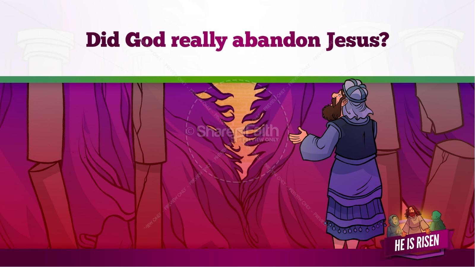 Matthew 28 He Is Risen Easter Kids Bible Lesson | slide 21