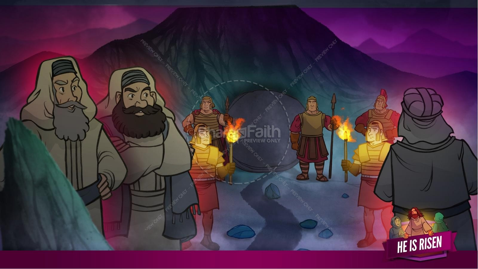 Matthew 28 He Is Risen Easter Kids Bible Lesson | slide 22