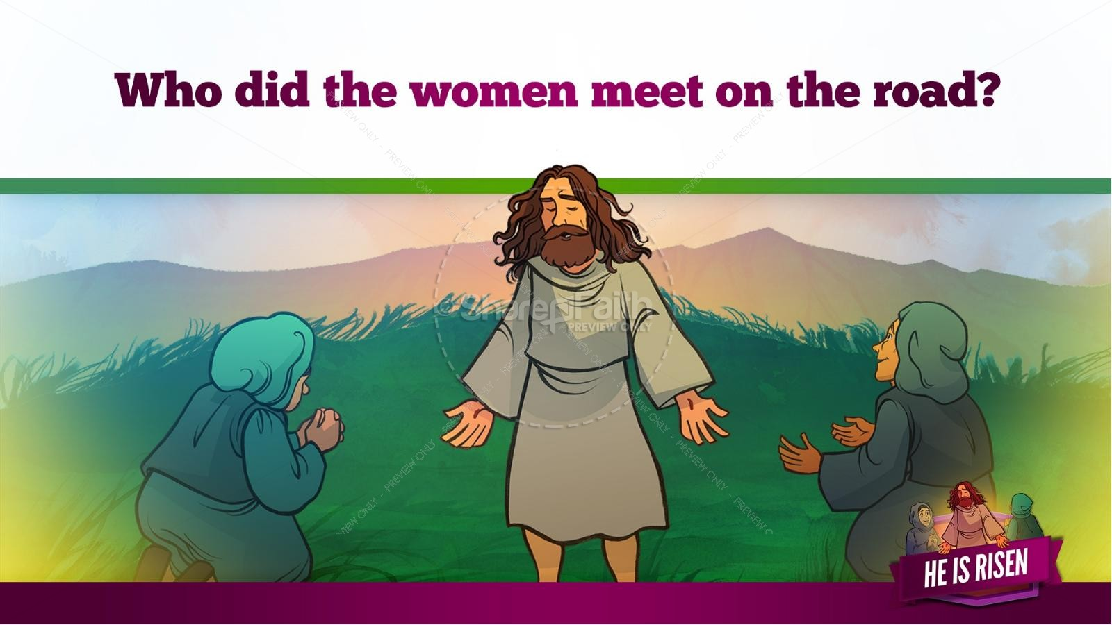 Matthew 28 He Is Risen Easter Kids Bible Lesson