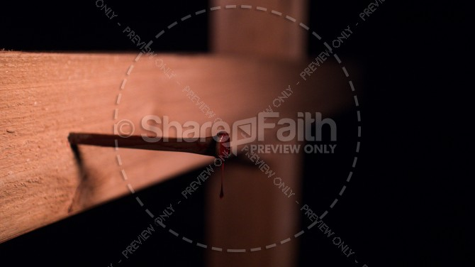 Christian Cross With Bloody Nail Stock Image