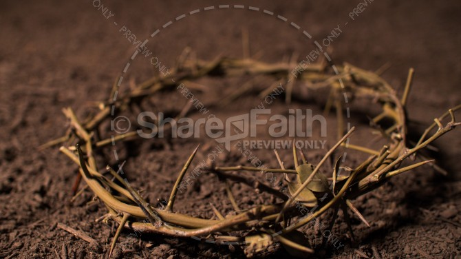 Crown of Thorns Easter Stock Photo