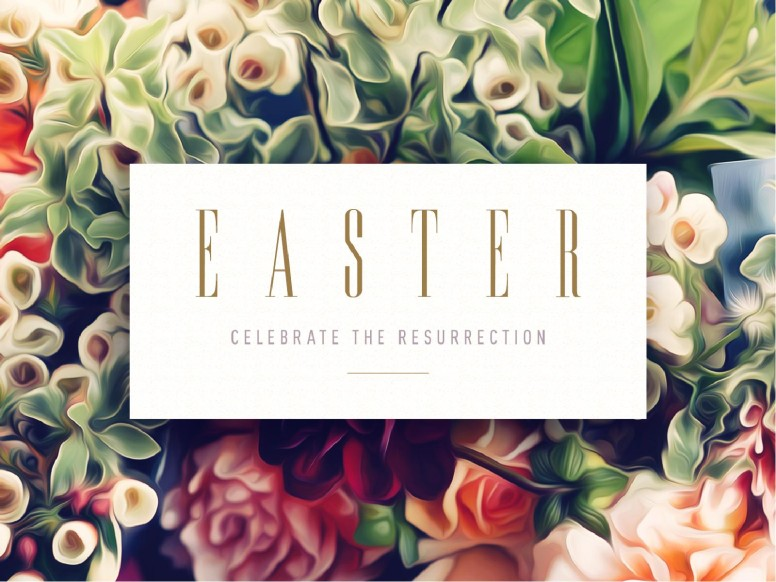 Easter Flower Church PowerPoint
