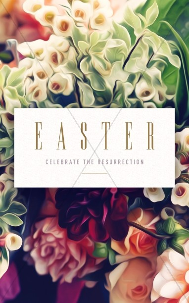 Easter Flower Church Bulletin