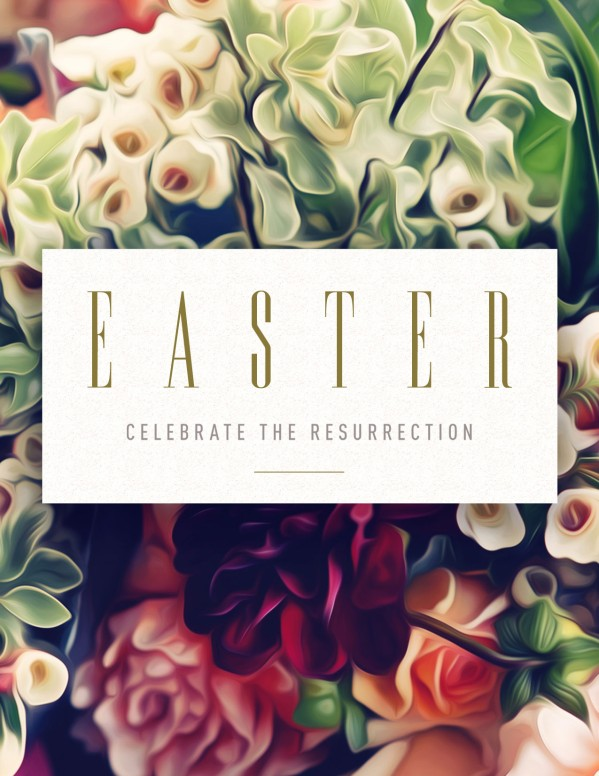 Easter Flower Church Flyer