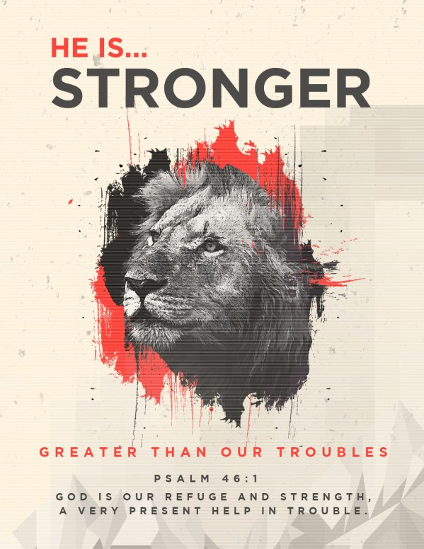 God Is Our Refuge And Strength Church Flyer
