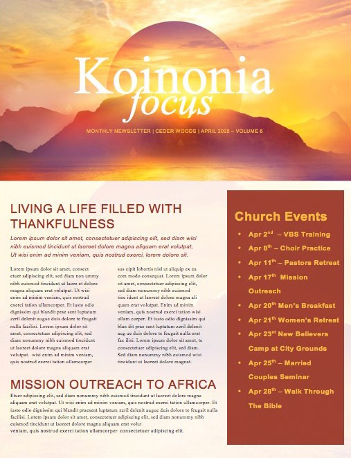 Hope Rises Church Newsletter