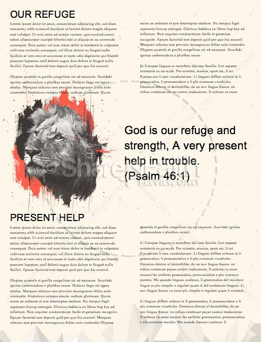 God Is Our Refuge And Strength Church Newsletter