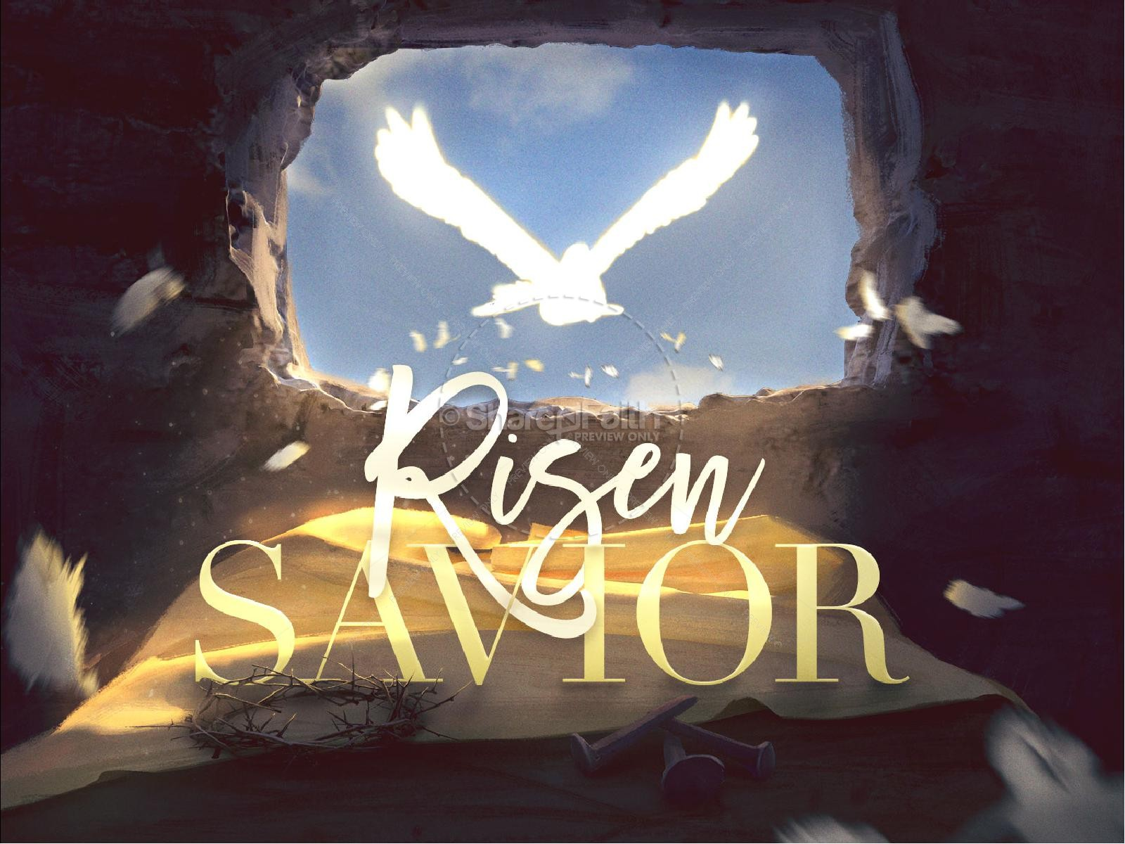 Risen Savior Easter PowerPoint Template