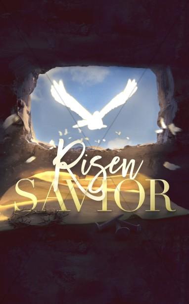 Risen Savior Easter Bulletin Cover