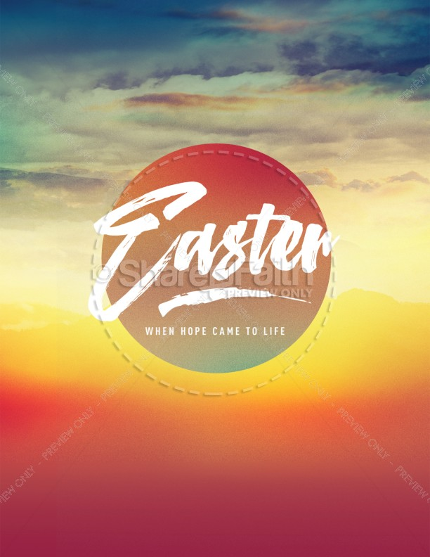 Easter Sunrise Flyer Template